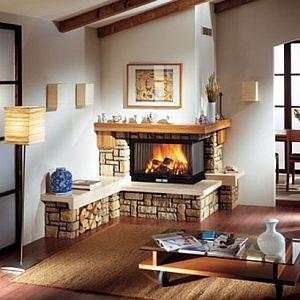 Camini termocamini e stufe a pellet legna o biomassa - Camini da cucina ...